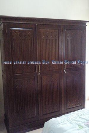 Lemari Pakaian Tiara Jati Pesanan Bpk. Dimas Bantul Jogya