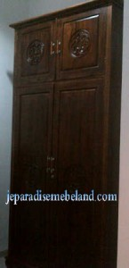 Lemari Pakaian Jati 2 Pintu Pesanan Ibu Moethy Palembang