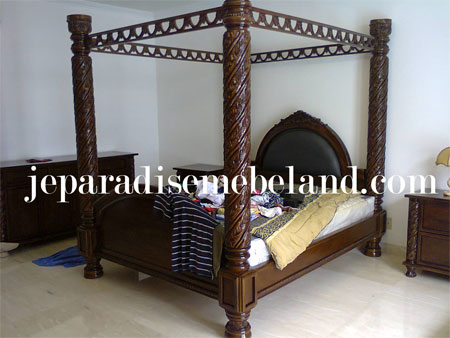 Jual Kamar Set Kayu Jati Pesanan Ibu Aida Villa Palma Jakarta Selatan