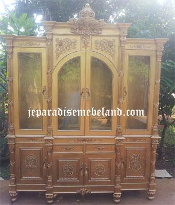 Lemari Hias Emerald Gold