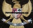 Ukiran Garuda Warna Emas Pesanan PT Argas Dilaga Jakarta