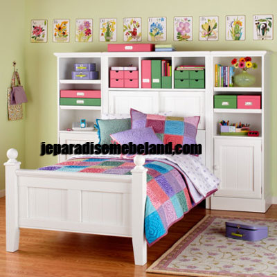 Tempat Tidur Anak Kombinasi Rak Buku