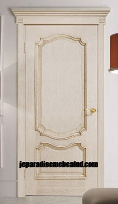 Pintu Rumah Cat Duco Putih