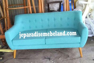Sofa Retro Minimalis 2 Dudukan Jual Mebel Jepara Online